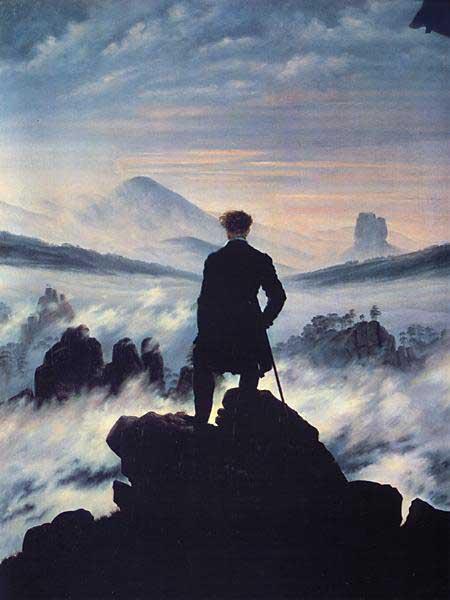 Caspar David Friedrich, Il viandante sopra il mare di nebbia